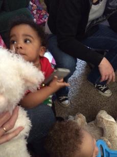 Emma LOVES soft stuffed animals!