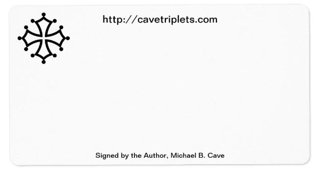 tripleblessing book - author bookplate